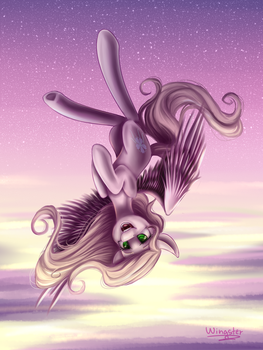 MLP - Art trade /Lily Fox by WingsterWin