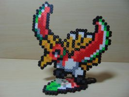 Ho-Oh Perler with Rainbow Wing Base by Perler-Pop