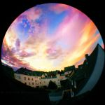 Fisheye Sunset by ElyneNoir