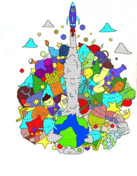 Creative Earth Digital Coloring by hoity-toity-holiday