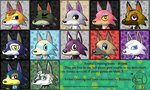 F2U] Animal Crossing Icon Set 1 - Wolves by KiwiBeagle