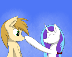 silverblaze and topaz nose boop by Silverfox057