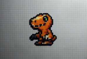 Agumon Hama Mini by inu-chan-free