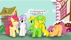 Buttercup and Toffee meet the cmc by Veriana