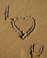 Sand Art I Love You by ravenmoonstone