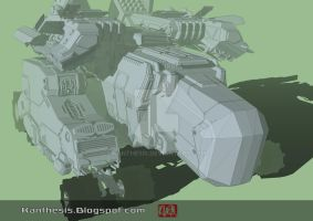 Concept Mecha WIP by Kanthesis