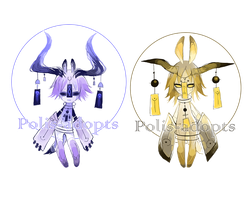 [CLOSED] adopts auction13 - Wind Chime Demon by Polis-adopts