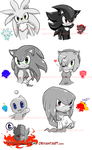 Fave charas :Sonic: by V1ciouzMizzAzn