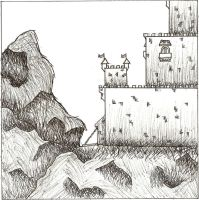 Castle on a hill by Doodeler