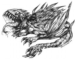 Wyrm Dragon by ZombiDJ