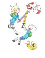 Adventure Time Fight by hastycat