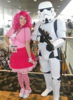 Pinkie and Storm Trooper by EricaMeow