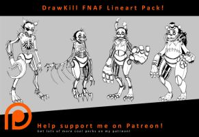 DrawKill FNAF Lineart Pack by DrawKill