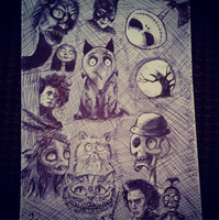 tim burton collage by loudsilence21