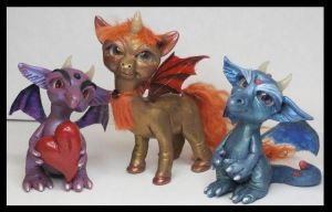 Unicorn and Dragons Handmade Polymer Clay by KabiDesigns