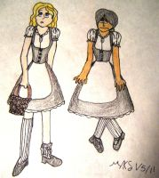 Day 5- Laundry Maids by AngelAndChangeling
