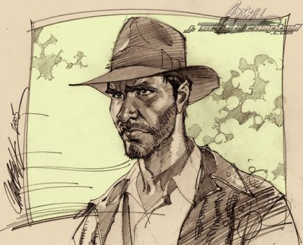 'Raiders' Indiana Jones by J-Scott-Campbell