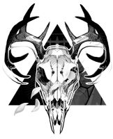 Deer Skull Design by MaxGrecke