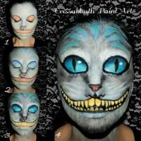 Cheshire Cat Make up by CrissabbathPaintArt