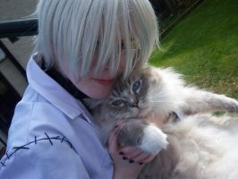 Stein and a cat by CrystaltheEchidna01
