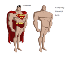 DCAU - Superman base by juanito316ss