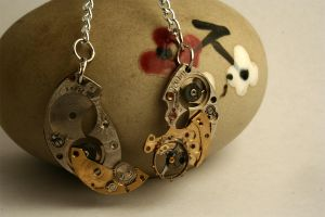 Reconstructed Watch Earrings by GomoDucky