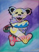 Grateful Dead Bear by vanillastar42405