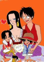 Boa Hancock and Luffy's twin children by windscarlett