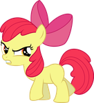 Angry Applebloom by Yetioner