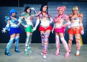 Sailor Scouts Assemble by Pompay