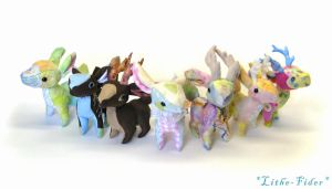 Chibi Quadruped Deer Plush by Lithe-Fider