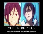 Free! Motivation: Vicious Predators by xMaikoWolfx
