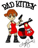 Bad Kitten with Scooter by hglucky13