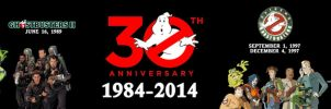 GHOSTBUSTERS 30TH ANNIVERSARY BANNER by WOLVERINE25TH