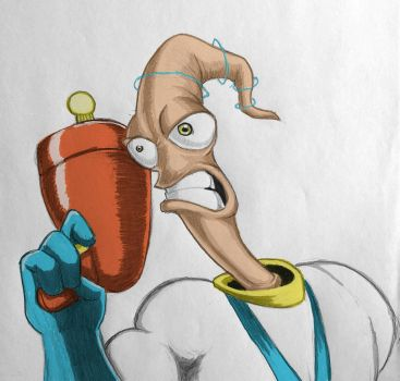 Earthworm Jim by liquidruby