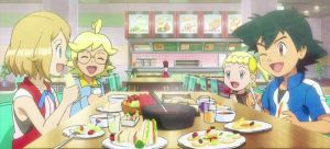 Ash, Serena and Friends Spending Lunch Together by WillDynamo55