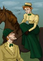 Riding lessons by MadHatters-Wife
