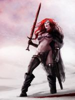 Red Sonja in the Vanaheim plains by raulovsky