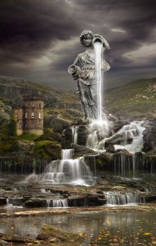 Lady of the Falls by oilcorner