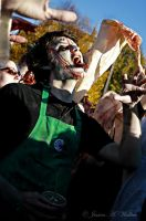 Starbucks Zombie by PorcelainPoet