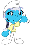 Starry Smurfette by BlueHecate