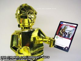 Handsome papercraft LEGO Star Wars C-3PO by ninjatoespapercraft