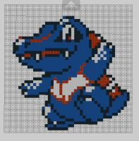 8-bit lego Totodile by MunsenTheBiscuit69
