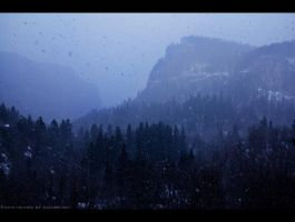 Blizzard Canyon Blues by FramedByNature