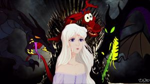 GOT -Daenerys Targaryen and the Dragons by DadoSuperstar90