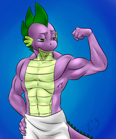 What does Spike do after a shower by Pia-sama