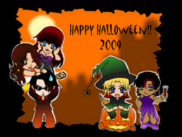 Happy Chibi Halloween '09 by zoro4me3