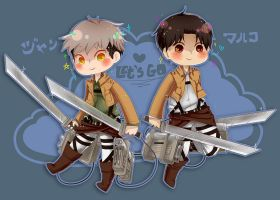 chibi snk boyfriends by muuush