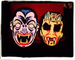 Dracula and Vampire Masks! by XBlackFerretX