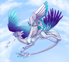AT - Elycian - Blue-winged by Calluna-Draconis